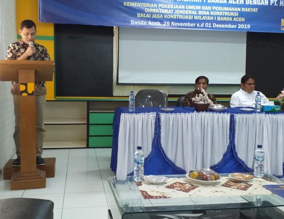 Puluhan Pelaku Jasa Kontruksi di Aceh Dilatih Peningkatan SDM