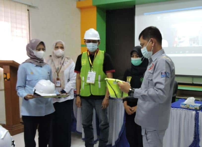 55 Petugas Ikut Bimtek Keselamatan Kontruksi yang Digelar PT Harum Jaya